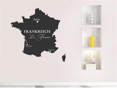 Wandtattoo Kinderzimmer Frankreich by Wandtattoo Frankreich Karte Umriss Wandtattoos De