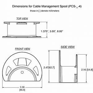 Middle Atlantic Pcs Series Cable Management Spools