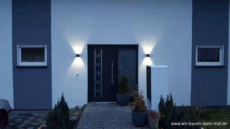 außenbeleuchtung haus led beleuchtung der hauswand mit led leuchten stromsparend