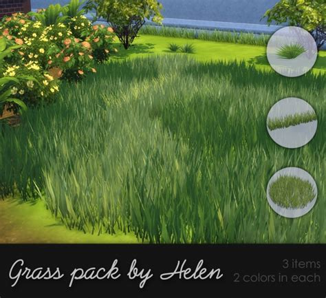 Grass pack at Helen Sims » Sims 4 Updates