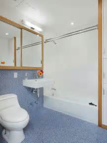 Traditional Bathroom Sinks by 30 Penny Tile Designs That Look Like A Million Bucks