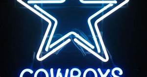 Wiki Neon Sign Blog NFL DALLAS COWBOYS Beer Bar Football