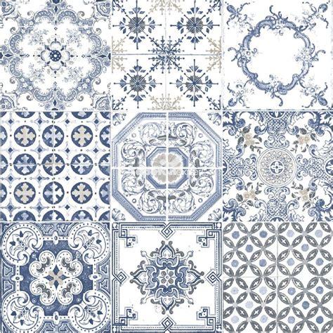 moroccan tiles blue