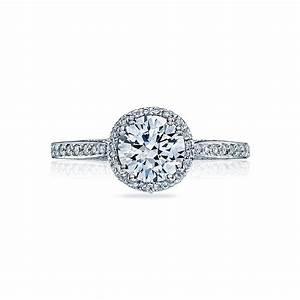 Tacori engagement rings dantela halo setting 025ctw for Wedding ring tacori