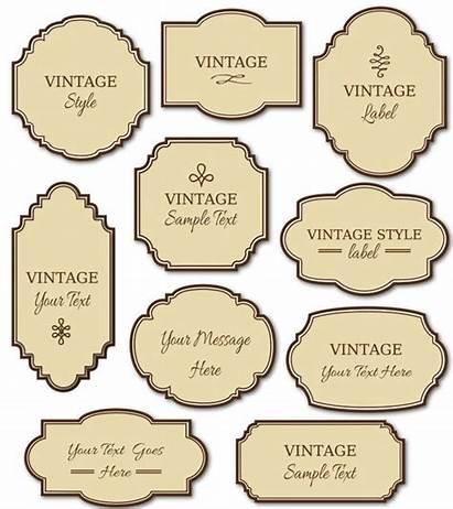 Labels Clip Digital Diy Frames Cards Pack