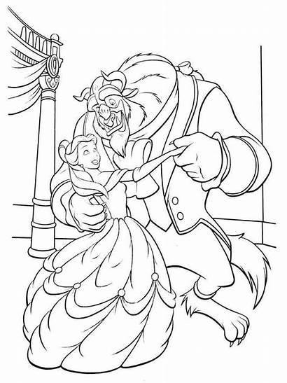 Coloring Belle Princess Pages Beauty Disney Beast