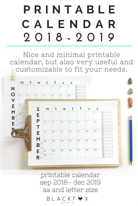 desk calendar  printable wall calendar