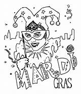Mardi Gras Coloring Jester Mask Pages Carnival Sheets Crayola Printable Tuesday Fat Popular Crafts Fun Printables Coloriage Mardigras Coloringhome sketch template