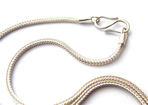 silver necklace mens sterling silver chain foxtail chain wheat chain necklace