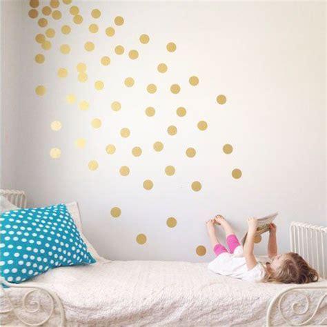 gouden stippen op de muur muurstickers verwijderbare