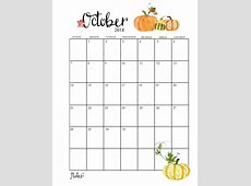 Printable October 2018 Calendar Latest Calendar