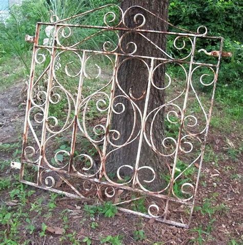 vintage wrought iron garden gate patio lawn by