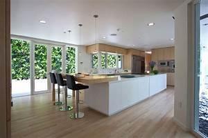 Breakfast Bar Elegant Modern Interior In Southern California