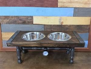 dog feeder dog furniture raise dog feeder industrial With dog bowl furniture