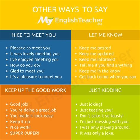 "Other Ways To Say ""just Kidding"" Myenglishteachereu"