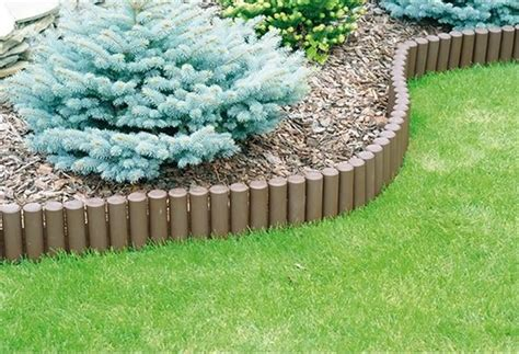 Ol5 Garden Log Roll Fence Lawn Edging Boarder Edge Fencing