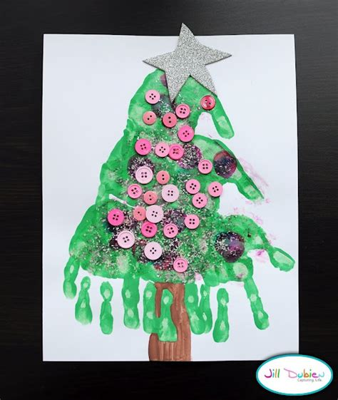 handprint christmas trees kids and education pinterest