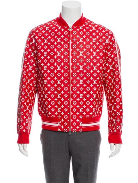 louis vuitton  supreme  monogram leather bomber jacket clothing lousu  realreal