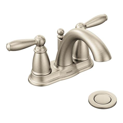 moen bn brantford brushed nickel  handle high arc