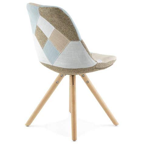 chaises scandinave chair patchwork style scandinavian bohemian fabric blue