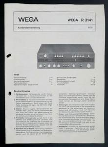 Wega R 3141 Original Stereo Receiver Service Manual