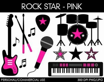 Rock Clip Clipart Star Rockstar Digital Graphics