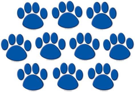 blue paw prints accents tcr teacher created resources