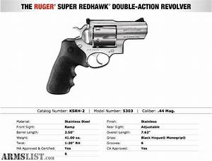 ARMSLIST - For Sale: Ruger Super Redhawk ALASKAN .44 MAG.