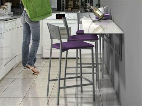 table cuisine escamotable ou rabattable table murale pour une cuisine plus sympa