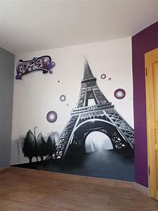decoration chambre ado theme paris With deco chambre fille paris