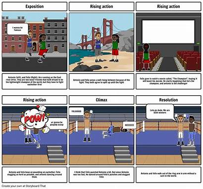 Amigo Brothers Storyboard Story Slide