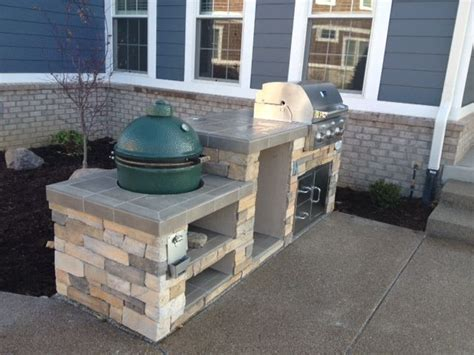 outdoor kitchen designs with smoker outdoor kitchen with grill and smoker big green egg 7238