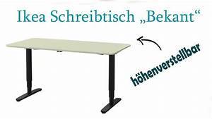 Ikea Höhenverstellbarer Schreibtisch : elektrischer schreibtisch ikea bekant im test youtube ~ A.2002-acura-tl-radio.info Haus und Dekorationen