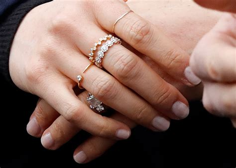 stacking  meghan markle  styling   engagement ring