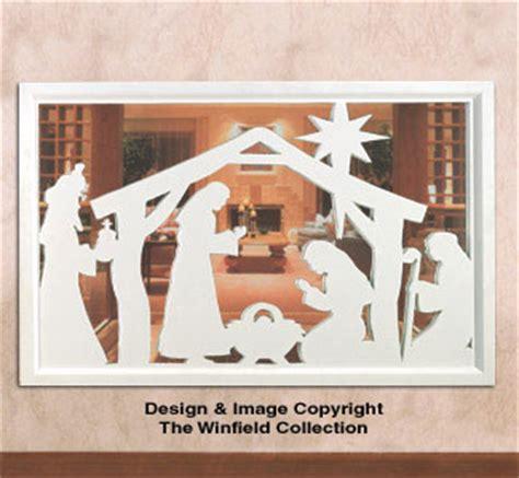 christmas wall nativity woodcraft pattern