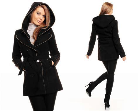 damen winter damen winter jacke mantel kurz mantel wolljacke trenchcoat mit kapuze ebay