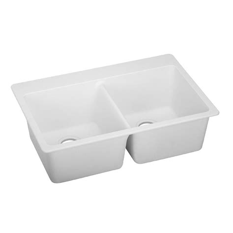 Home Depot Kitchen Sinks White by Elkay Elkay By Schock Dual Mount Quartz Composite 33 In