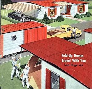 Fold Up Homes of the 1950's Mobile Home Living