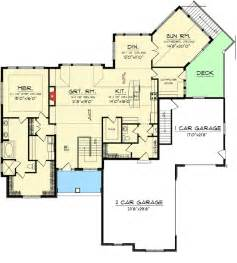 home plans with walkout basements craftsman ranch with walkout basement 89899ah 1st