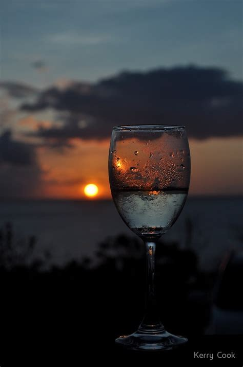 quot sunset through wine glass quot by kerry cook redbubble