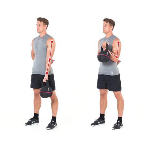 kettlebell biceps curl hammer met arm bicep workout arms exercise work gymbox schema bottom ejercicios pesas entrenar empezar rusas debes