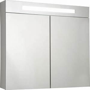 Armoire De Toilette Lumineuse Blanc L80 Cm SENSEA Telio