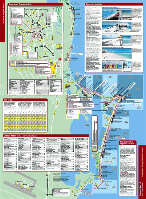 cancun map  travel guide mapchick maps travel guides