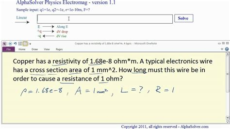 work resistivity problems  physics youtube