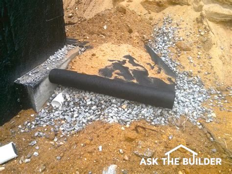 foundation waterproofing drain tile  hand  handask