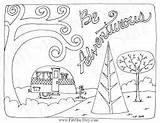 Coloring Caravan Camping Sheets sketch template