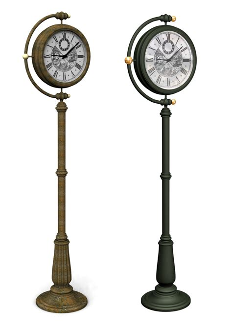 freestanding clock and weather by david patton at