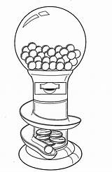 Machine Coloring Gumball Gum Bubble Drawing Getdrawings Flag sketch template