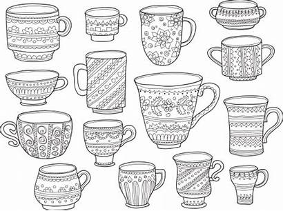 Coloring Coffee Cup Cups Pages Adult Kidspressmagazine