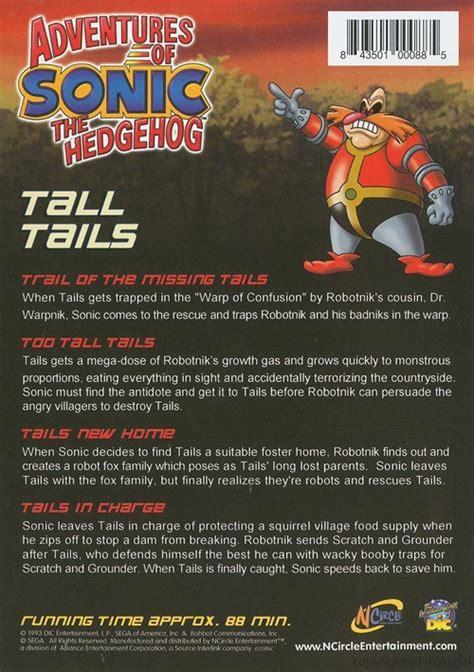 adventures  sonic  hedgehog tall tails dvd dvd